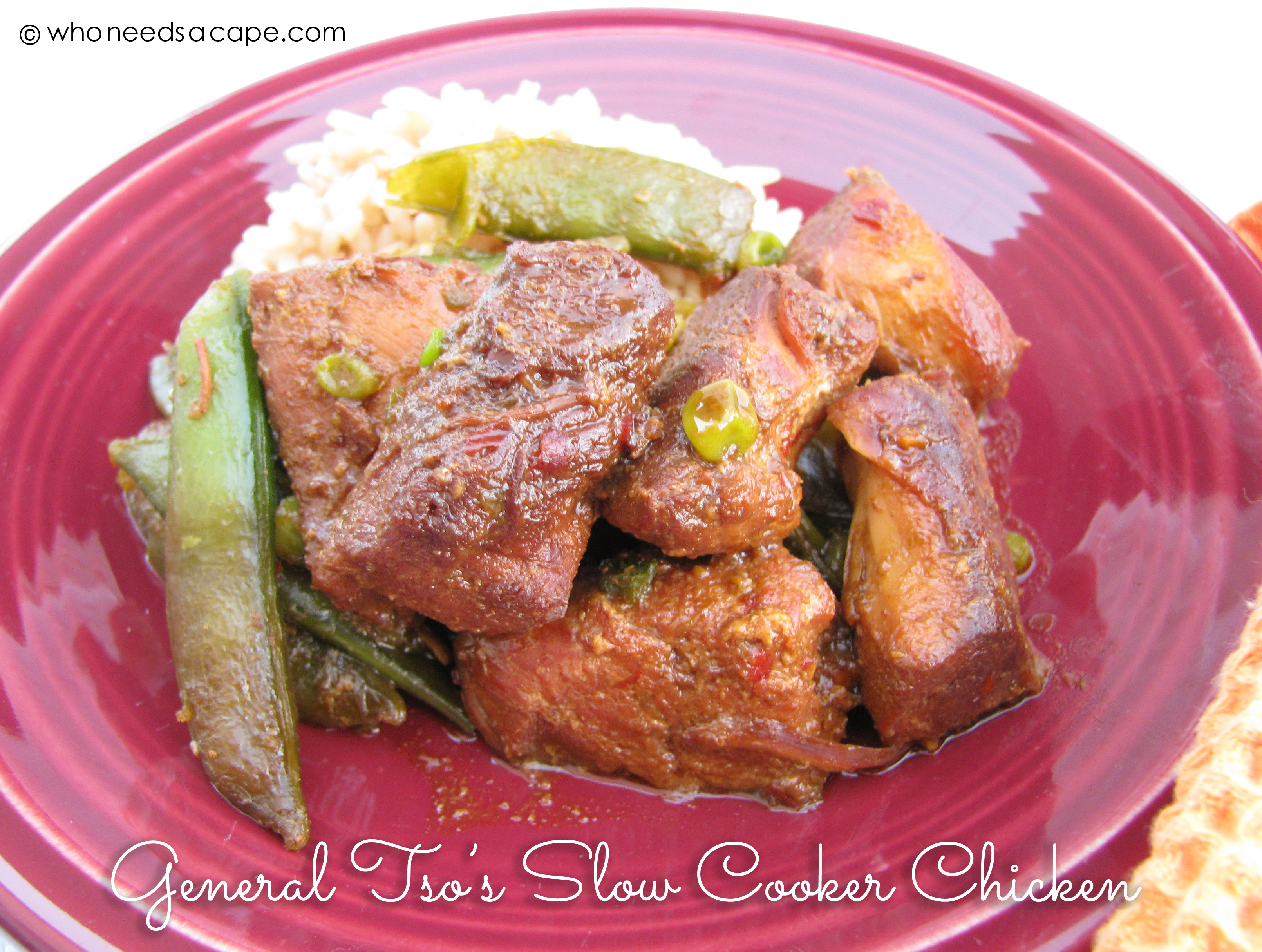 General Tso's Slow Cooker Chicken   Who Needs A Cape?