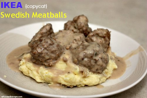 {copycat} IKEA's Swedish Meatballs | Who Needs A Cape?