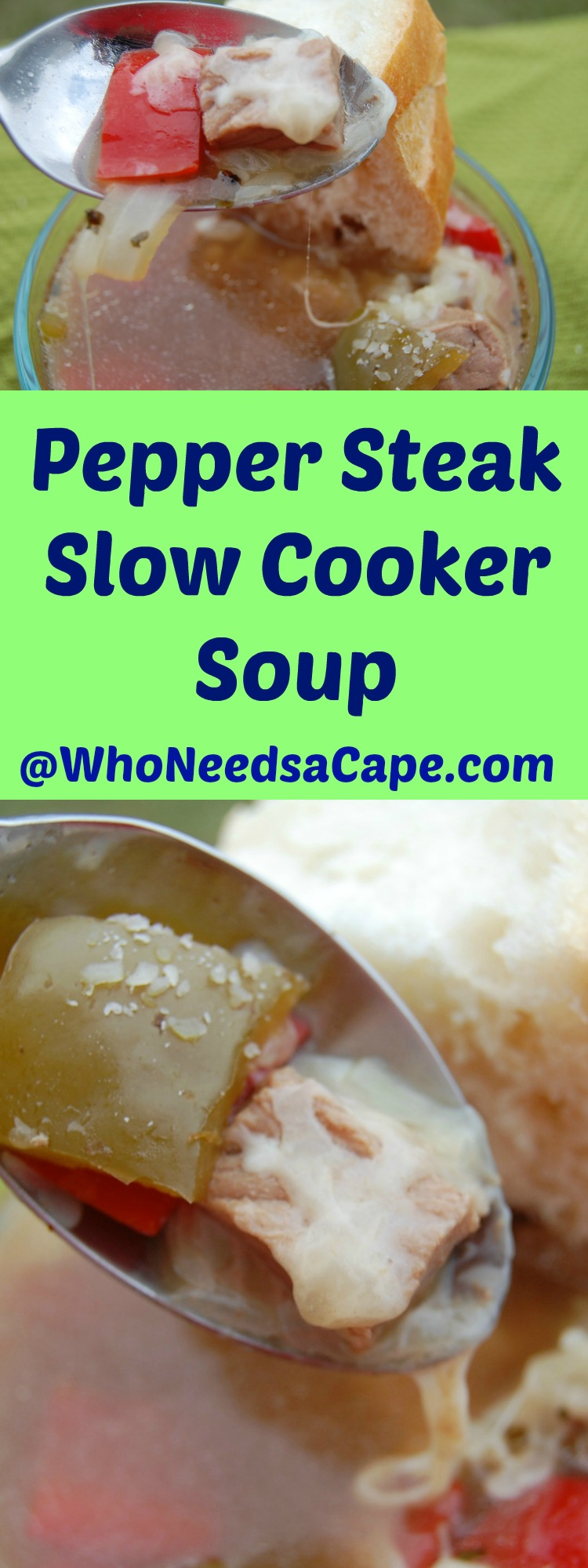 Pepper Steak Slow Cooker Soup is an amazing soup. It's not hard to make but is so flavorful. You'll love it
