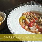 Sausage & White Bean Slow Cooker Soup