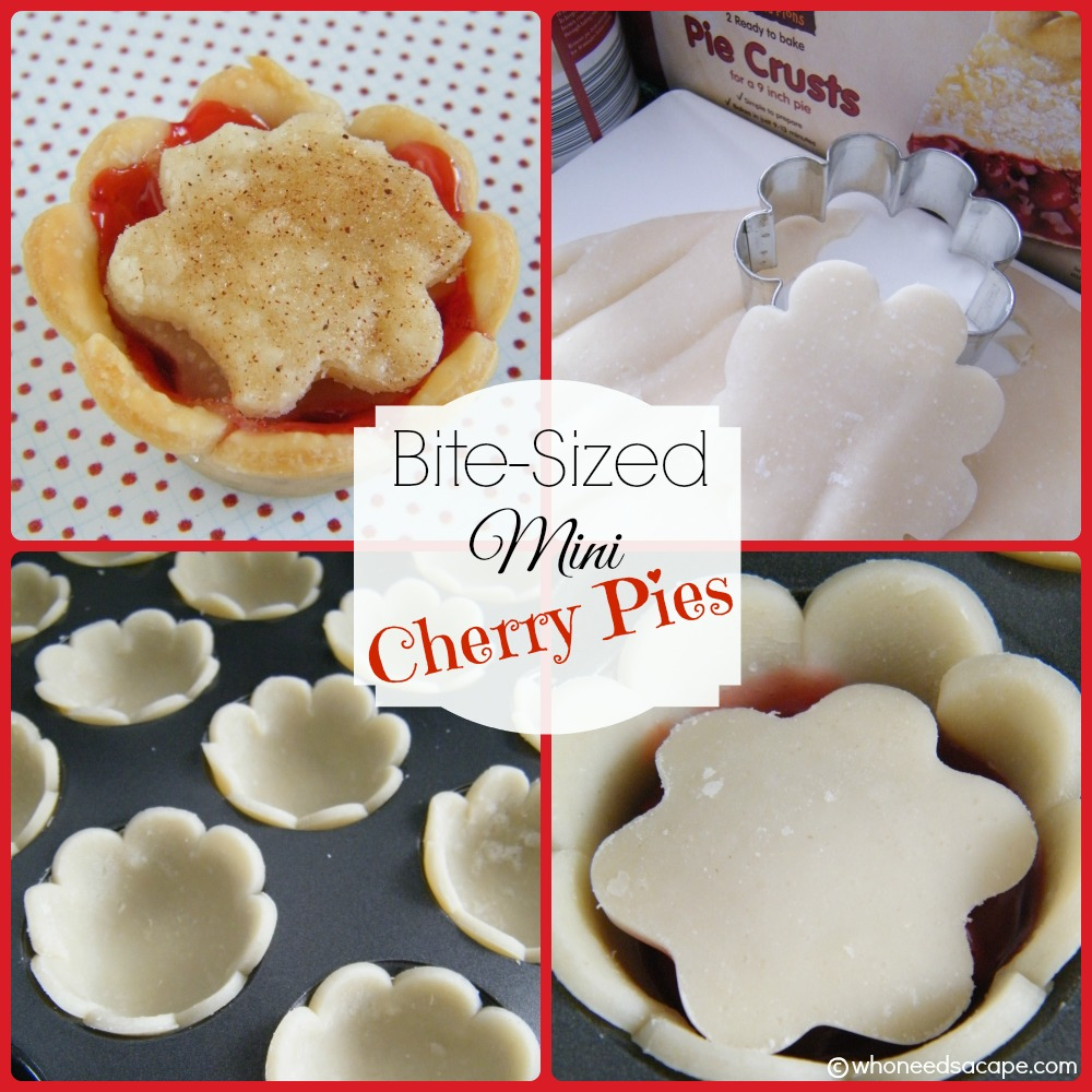 Bite-Sized Mini Cherry Pies - Who Needs A Cape?