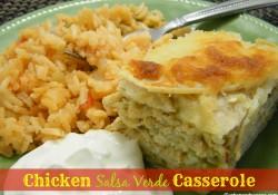 Chicken Salsa Verde Casserole | Who Needs A Cape?