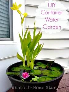 DIY Water Garden-Whats Ur Home Story