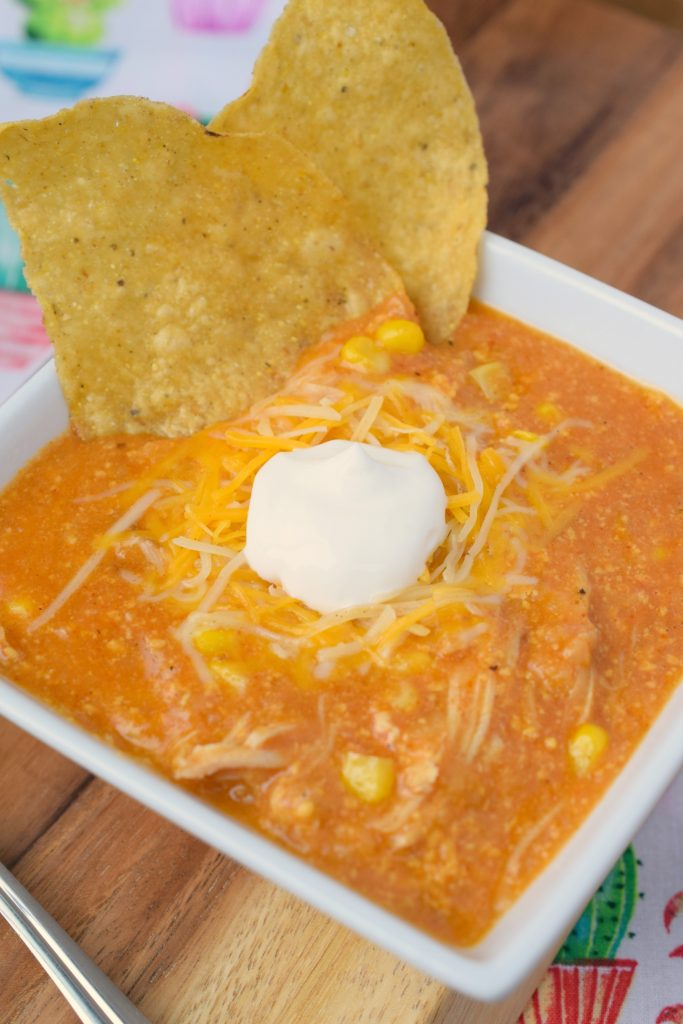 Slow Cooker Chicken Enchilada Soup is a wonderful meal! Incorporating all the delicious flavors of the Mexican dish with the ease of crockpot preparation.