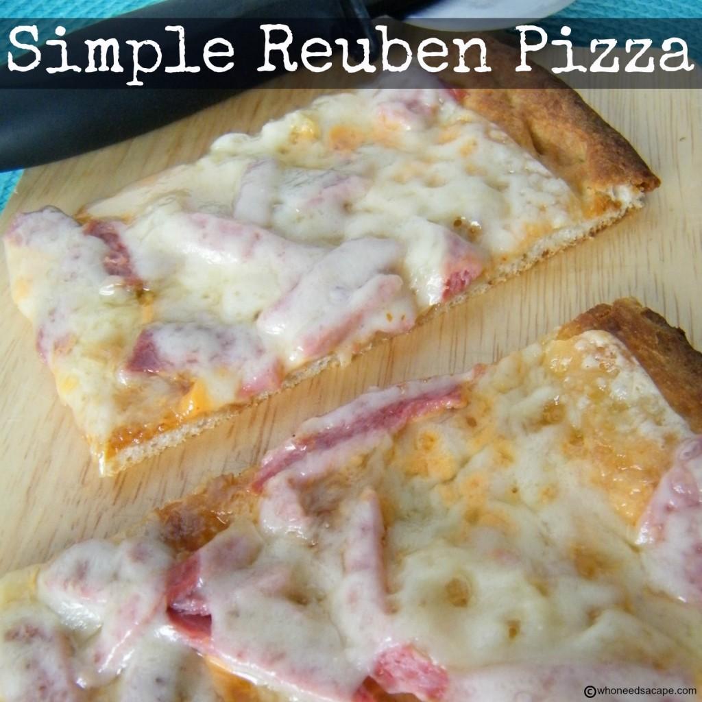 Simple Reuben Pizza | Who Needs A Cape?