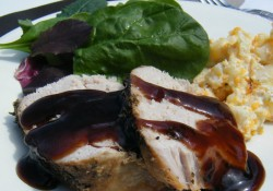 Brown Sugar & Balsamic Glazed Pork Loin | Who Needs A Cape?