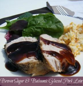 Brown Sugar & Balsamic Glazed Pork Loin | Who Needs A Cape?