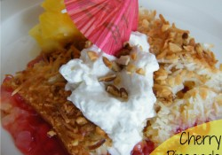 Cherry Pineapple Cabana Cake | Who Needs A Cape?