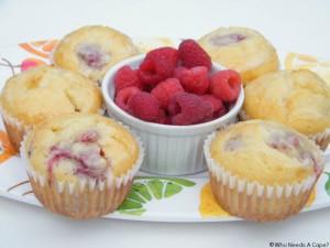 Lemon-Glazed Raspberry Muffins   Who Needs A Cape?