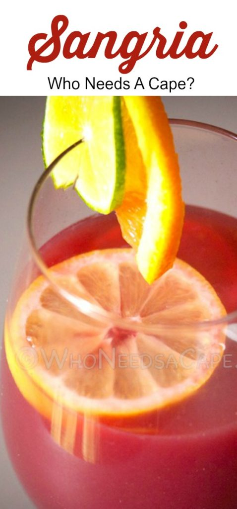 Sangria is a fruity wine that goes great with a get together on a warm day. Serve with fresh fruit that compliments the food