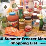 30 Freezer Meals ~ Shopping List