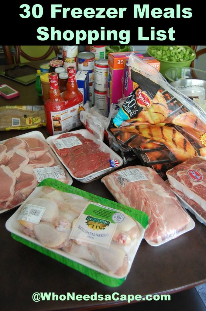 30 Freezer Meals Shopping List 3