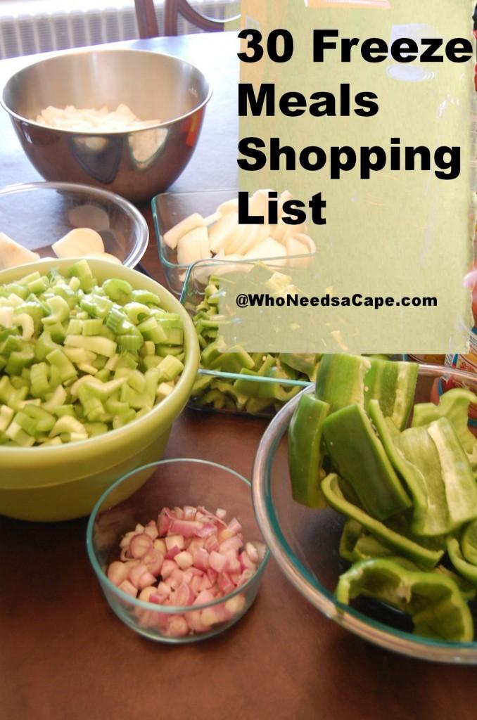 30 Meals Shopping List 2