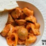 One Pan Creamy Tortellini & Sausage