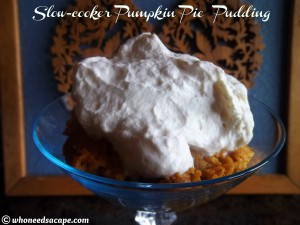 Slow Cooker Pumpkin Pie Pudding