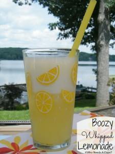 Boozy Whipped Lemonade   Who Needs A Cape?