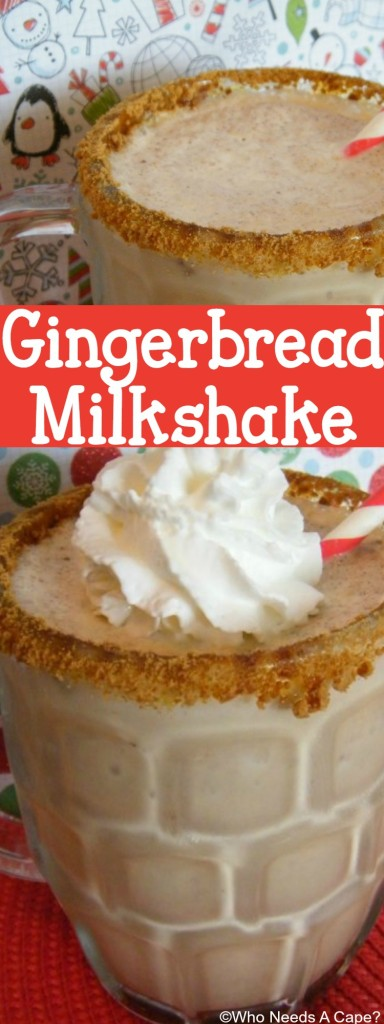 A Gingerbread Milkshake is the ideal way to celebrate the holiday season or Christmas in July. All the fabulous flavors of the season in a thick milkshake.