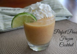 Perfect Peach Frozen Cocktail