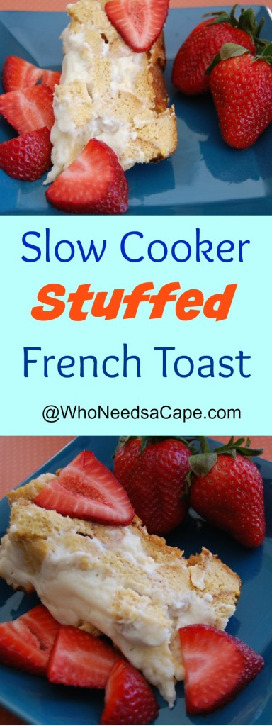 Make Breakfast or Dinner in a snap with this Slow Cooker Stuffed French Toast. The whole family will enjoy and you won't be stuck in the kitchen!