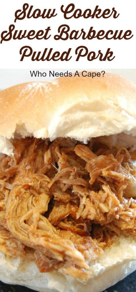 Slow Cooker Sweet Barbecue Pulled Pork makes a delicious dinner - whether eating it on sandwiches or using it in a salad - give it a try, you'll love it!
