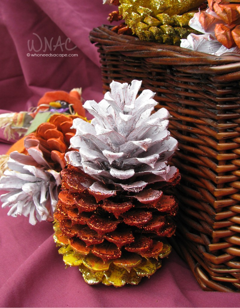 DIY Candy Corn Pine Cones ~ a fun, fast and inexpensive craft to dress up your porch or home for autumn. Perfect fall family craft!