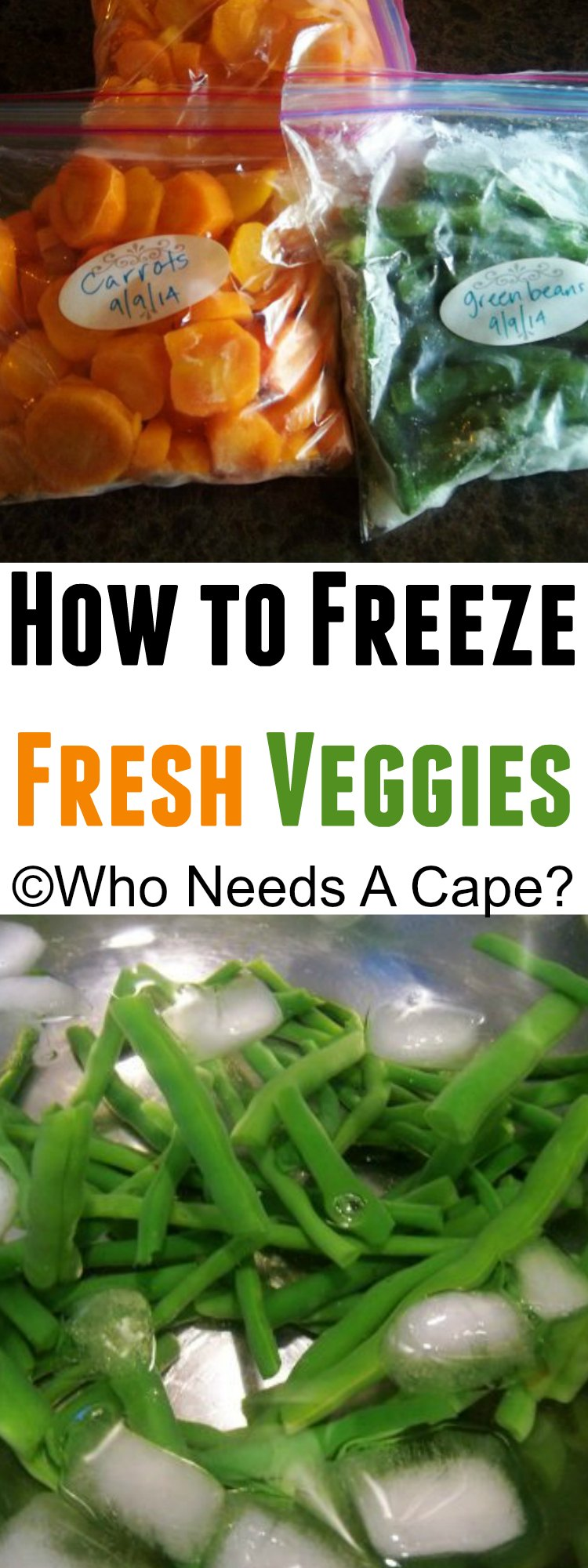 Don't let your garden gems to to waste! Learn how to easily freeze