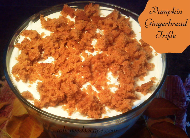 Pumpkin Gingerbread Trifle1