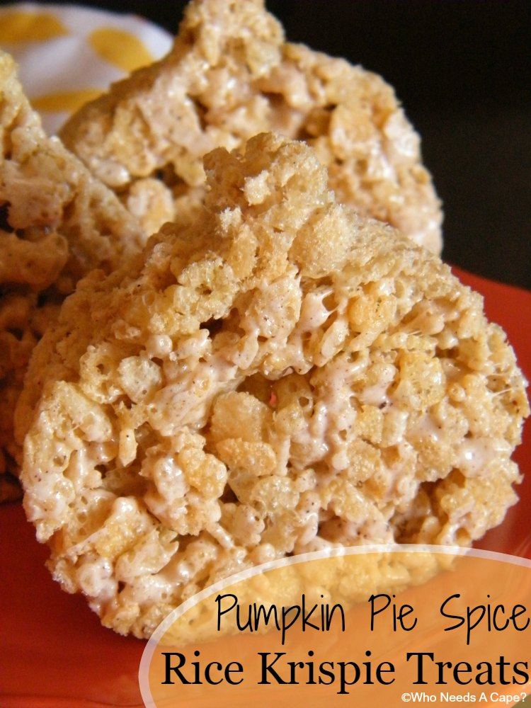 Pumpkin Pie Spice Rice Krispie Treats