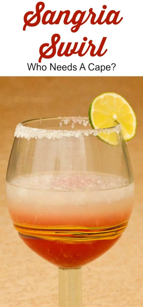The perfect blend of two classic drinks, a Sangria Swirl is made up of a frozen margarita and a lovely citrus-filled sangria wine.
