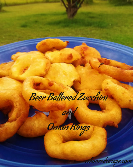 Beer Battered Zucchini & Onion Rings