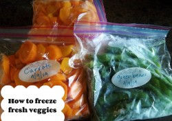 How to Freeze Fresh Veggies | Who Needs A Cape?