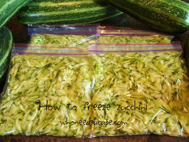 Have an abundance of garden fresh zucchini? Then you need to know how to freeze
