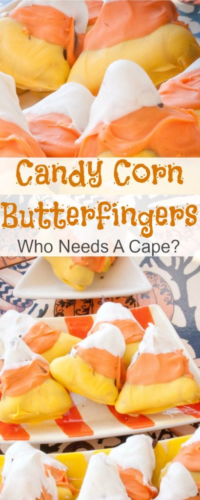 Candy Corn Butterfingers are an easy homemade treat that will wow your party guests. Perfect treat for Halloween parties, kid love them!