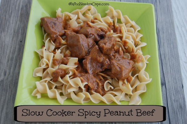 Slow Cooker Spicy Peanut Beef 2