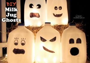 DIY Milk Jug Ghosts