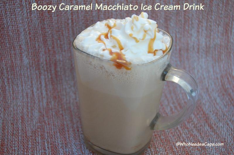 Boozy Caramel Macchiato Ice Cream Drink
