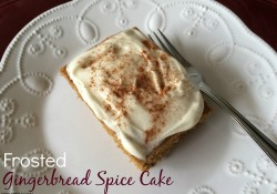Frosted Gingerbread Spice Cake | Who Needs A Cape?