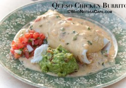 Queso Chicken Burritos