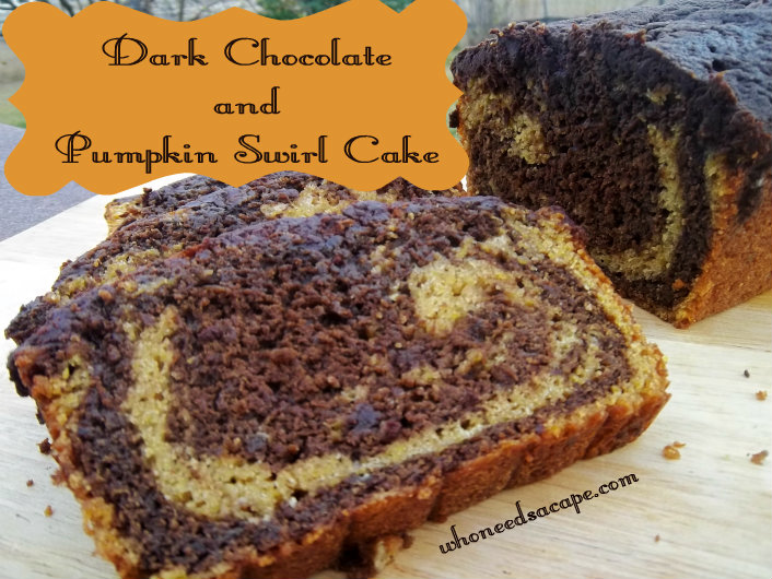 Are you looking for a decadent dessert this fall? Look no further than Dark Chocolate and Pumpkin Swirl Cake. Wow your family with this easy to make cake.