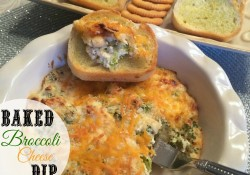 Baked Broccoli Cheese Dip | Who Needs A Cape?