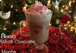 Boozy White Chocolate Peppermint Mocha | Who Needs A Cape?