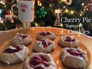 Cherry Pie Thumbprint Cookies   Who Needs A Cape?
