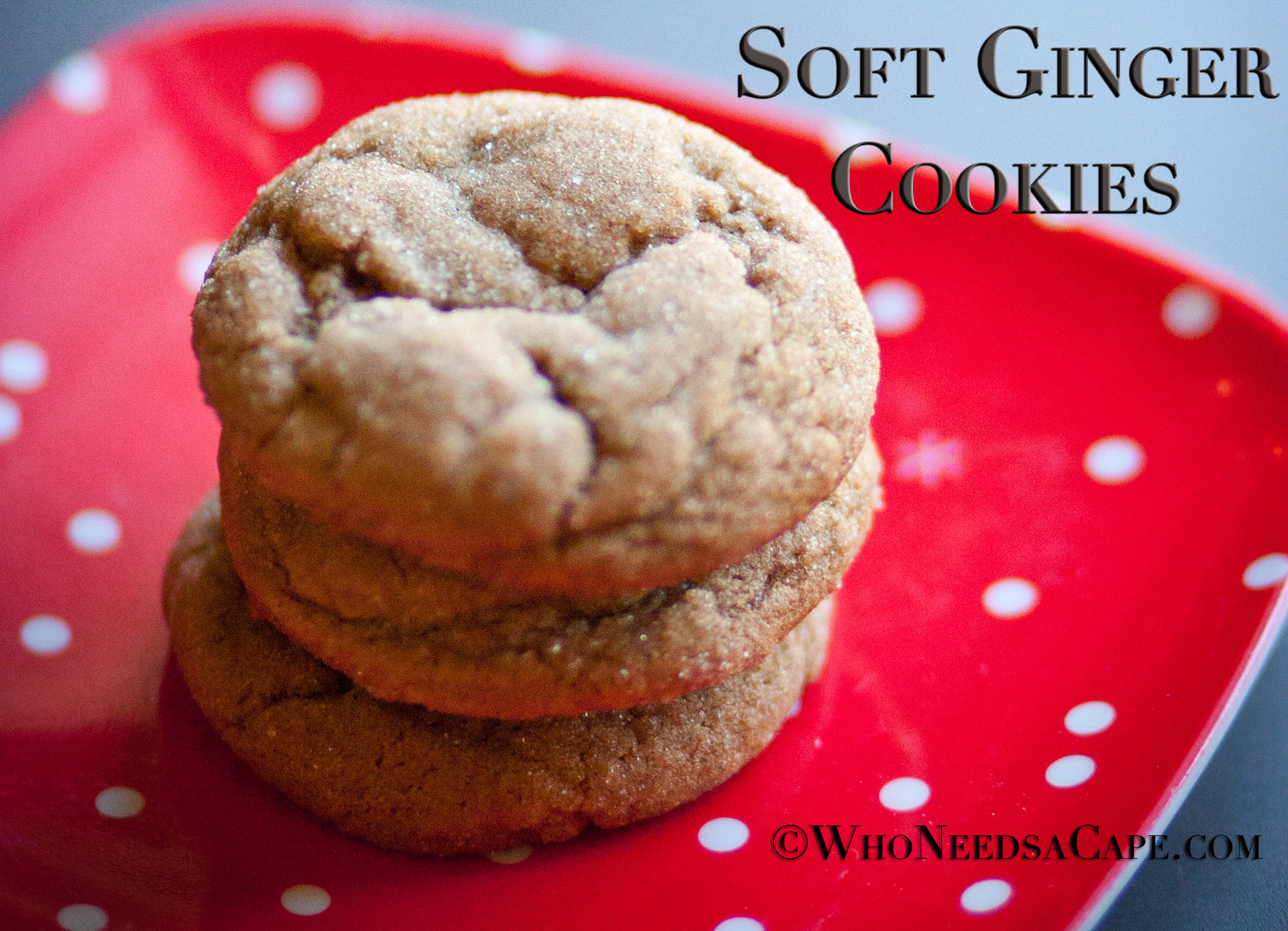 Soft Ginger Cookies | Who Needs A Cape?