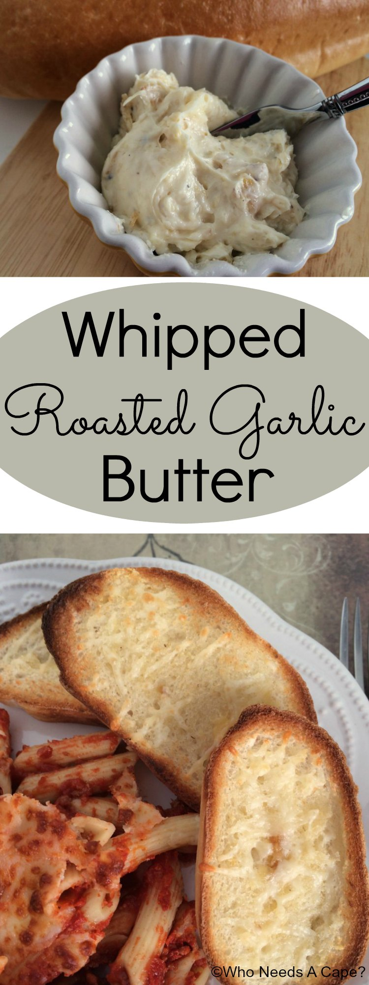 Whipped Roasted Garlic Butter leads to the most delicious garlic bread ever! So simple to prepare and much better than store bought garlic spreads!