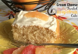 Cream Cheese Frosted Grapefruit Cake | Who Needs A Cape?