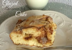 Glazed Cinnamon Roll Cake | Who Needs A Cape?
