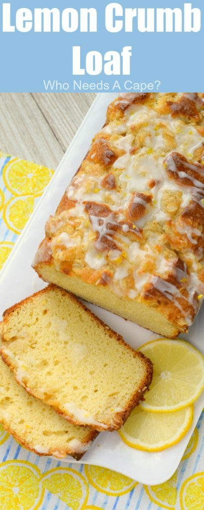 Lemon Crumb Loaf has a fresh lemon flavor, crumb topping and finished off with a glaze. So delicious, a wonderfully baked loaf great for dessert or breakfast!