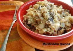 Slow Cooker Mushroom Quinoa