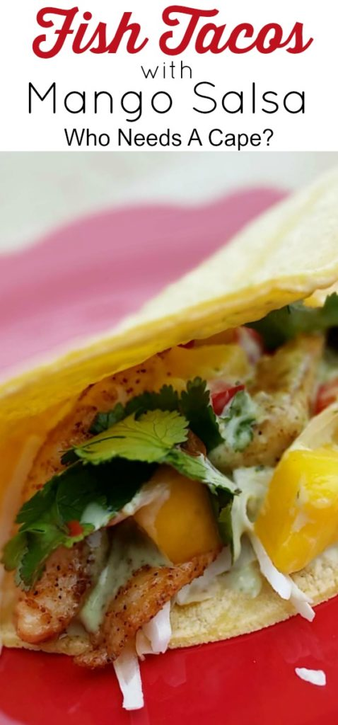 Fish Tacos with Mango Salsa are a quick meal that your family will LOVE! Great for Cinco de Mayo or Lent, a simply delicious seafood dish!