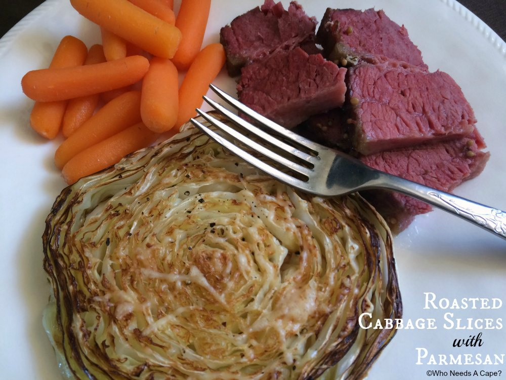 You'll be amazed at the flavor in these Roasted Cabbage Slices with Parmesan! Serve alongside Corned Beef for a different spin on St. Patrick's Day.